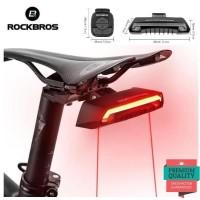 Rockbros Lampu Sepeda LED Laser With Remote Wireless Sein dan Hazard