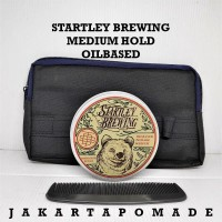 Pomade Startley Brewing Medium Hold Oilbased 100gr Free Clutch Bag