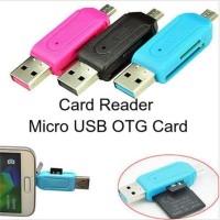 Card Reader OTG Mini 2In1 2 Slot Micro SD USB Transfer Data Hp