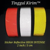 "Sticker Reflective High Intensity 2"" / Stiker reflektif mantul HI 2"""