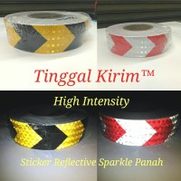 """Sticker Reflective High Intense Arrow 2 inch / Stiker mantul panah 2"""""""