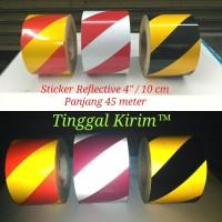 "Sticker Reflective Scotchlite 4"" (10 cm) / Stiker Reflektif Mantul 4"""