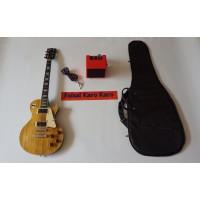 Gitar Gibson Les Paul Paketan Ampli , kabel Jack Dan Tas Gitar