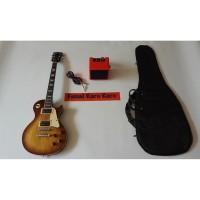 Gitar Gibson Les Paul Sunbrush New Paketan Ampli , Kabel & Tas Gitar