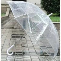 Payung Transparant Bening Putih Jepang // Transparent Umbrella TEBAL