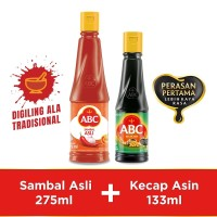 Bundling ABC Sambal Asli 275ml & Kecap Asin 133ml
