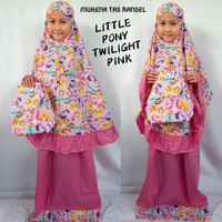 Mukena Anak Little Pony Twilight Pink Ransel