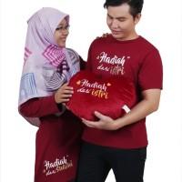 Kaos Couple Hadiah Dari Istri HDI + Hadiah Dari Suami HDS