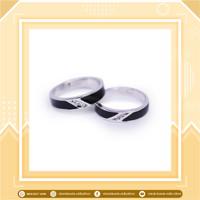promo sepasang cincin perak enamel termurah