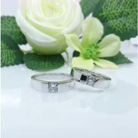 promo sepasang cincin perak murah simple ring