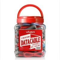 kkabel data vivan cbm100 micro usb cable charger android usb gepeng