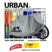 COVER SEPEDA URBAN BICYCLE WATERPROOF FULL SILVER POLYGON UNITED