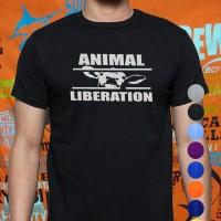 Kaos/tshirt/baju UNISEX VEGAN VEGETARIAN PETA HC