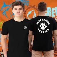Kaos/tshirt PENCINTA HEWAN STOP ANIMAL TESTING UNISEX