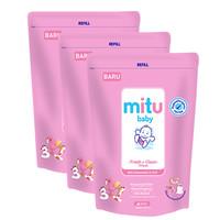 Mitu Baby Wipes Fresh N Clean Pink Refill 60'S