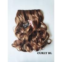 kimiko hairclip CURLY BL blonde pirang 60cm thumbnail