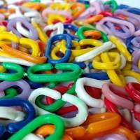 GROSIR 1kg Rantai Plastik Kecil Mainan Edukasi