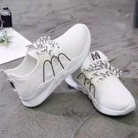 sepatu wanita kets casual M putih SP34