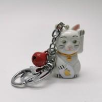 gantungan kunci Kucing Hoki lonceng TIDAK ADA suara dan lampu