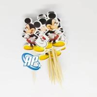 Topper Cupcake mickey mouse / Tusukan Kue mickey mouse / Hiasan Kue