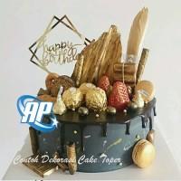Cake Topper Happy Birthday acrilic Tusukan Hiasan Kue Acrylic JUMBO