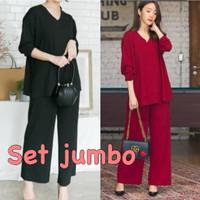 DAMAI FASHION - baju SETELAN wanita jumbo ANDREA - konveksi