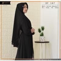 Hijab Jilbab Instan Premium Khimar DAFFI Dual Layer DF167 Black