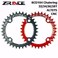 Blue SNAIL Single bike Chainring Narrow Wide Round Chain Ring BCD104mm 38T bolts