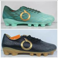 Sepatu bola ortuseight plasma fg tosca gold + black gold