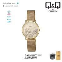Q&Q QnQ QQ Original Jam Tangan Wanita Stainless Steel Bunga QA21 QA21J