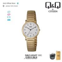 Q&Q QnQ QQ Original Jam Tangan Wanita Stainless Analog - QA21 QA21J