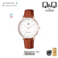 Q&Q QnQ QQ Original Jam Tangan Casual Analog Leather - Q978 Q978J