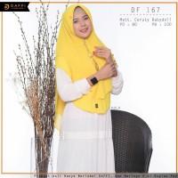 Hijab Jilbab instan premium khimar DAFFI Df167 dua layer Gold