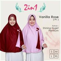 jilbab Pricilla 2 in 1 ukuran L Jilbab/hijab instan bolak-balik Berku