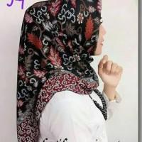 Jilbab segiempat batik hijab semi sutra kode 94 Limited