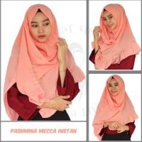 Pashmina Instan Rempel Mecca / jilbab Pastan Oshi Mecca Rempel bahan