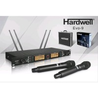 Microphone Wireless Hardwell Evo 9 Dengan 2 mic pegang Original