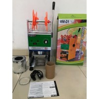 Cup Sealer Mesin Press Gelas WM-D1 u/ Gelas Tinggi 22 Oz + Roll GOJEK