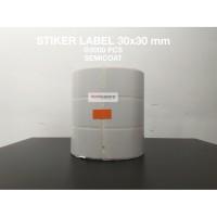 Sticker Label Barcode 30x30 mm @5000pcs Semicoat