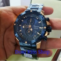Jam Tangan Pria Original Alexander Cristie AC6410 Blue Rose Gold
