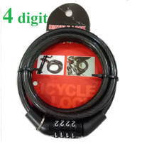Gembok Kunci Pengaman Sepeda Motor Helm Kable Kode Angka 4 bit 5 Digit