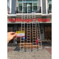 Tangga Multifungsi 7.4 Meter Tangga Lipat Tangga Alumunium AMG