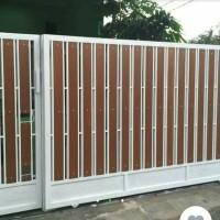 Jual Pagar rumah minimalis variasi model serat motif kayu ...