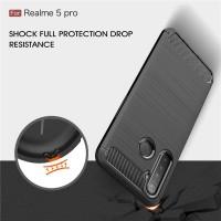 Case Realme 5 Pro Soft Case Realme 5Pro Ipaky Carbon Soft Series