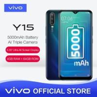 VIVO Y15 RAM 4GB - Internal 64GB AI Triple Camera