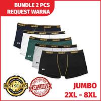 Celana Dalam Boxer Pria Warna hitam dan pth Bigsize / Jumbo Sampai 8XL