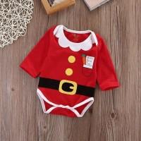 kostum christmas bayi / Jumper bayi merah santa claus christmas natal