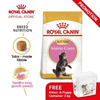 Royal Canin Kitten Maine Coon Dry 2kg Free Container