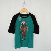 Kaos Anak Premium Raglan Racoon
