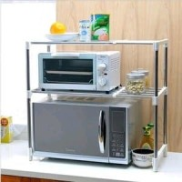 AY Microwave storage Rack Rak Portable Serbaguna 2 Susun